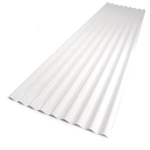 Palruf 26 in. x 8 ft. White PVC Roofing Panel-101336 at The Home Depot  To be used as the ceiling under our deck