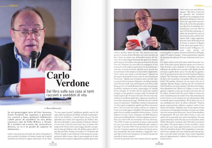 Carlo Verdone - GP Magazine Aprile 2016 #TivoliIncontra