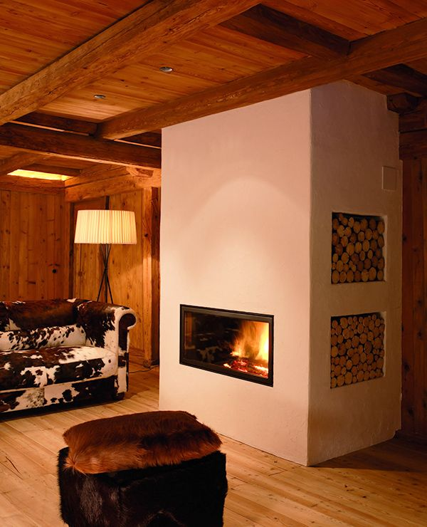 25 best ideas about rustic modern cabin on pinterest for Lodge style fireplace ideas