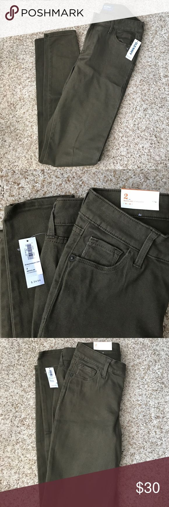 Deep olive Skinny Jeans Skinny jeans in a deep olive color. Great for dressing up with some wedges/heels or dressing done with some sandals! Jeans Skinny