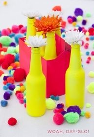 Neon party inspiration - spray paint stuff a neon color - anything