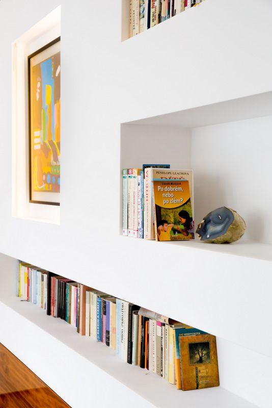 Detail of bookshelves.