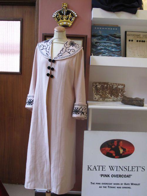 Overcoat designed by Deborah L Scott, worn by Kate Winslet in Titanic (1997), 1912
