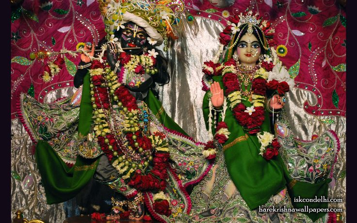 To view Radha Parthasarathi Wallpaper of ISKCON Dellhi in difference sizes visit - http://harekrishnawallpapers.com/sri-sri-radha-parthasarathi-iskcon-delhi-wallpaper-006/