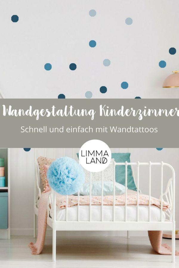 Wunderschöne Wandgestaltung im Kinderzimmer! Das schafft ihr ganz