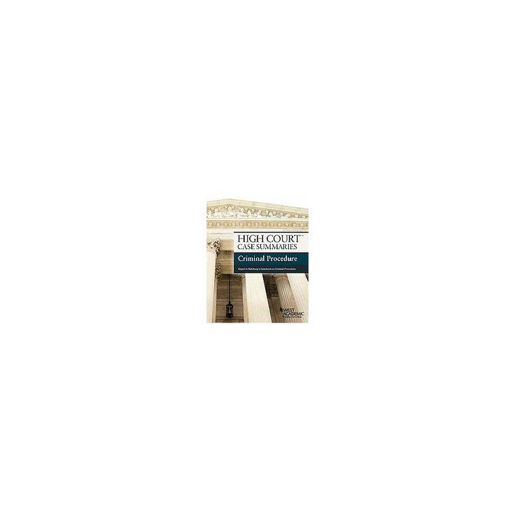 High Court Case Summaries, Criminal Proc ( High Court Case Summaries) (New) (Paperback)