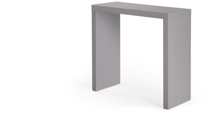 Introduce to modern, minimalistic style to your room with the Bramante Small Console Table in grey.