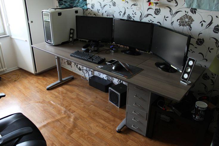 """Ni med tre 24"""" skärmar, Hur stort skrivbord har ni? - Multiskärm - SweClockers.com"""