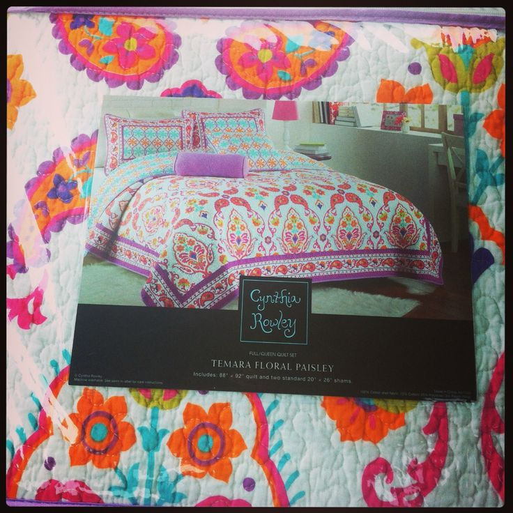 Cynthia Rowley bedding found at TJ Maxx for a bargain