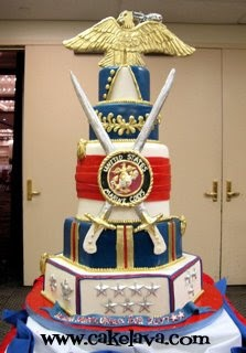 United States Marine Corps Cake - I wouldn't want this for my wedding or anything, but it's still awesome to look at :)