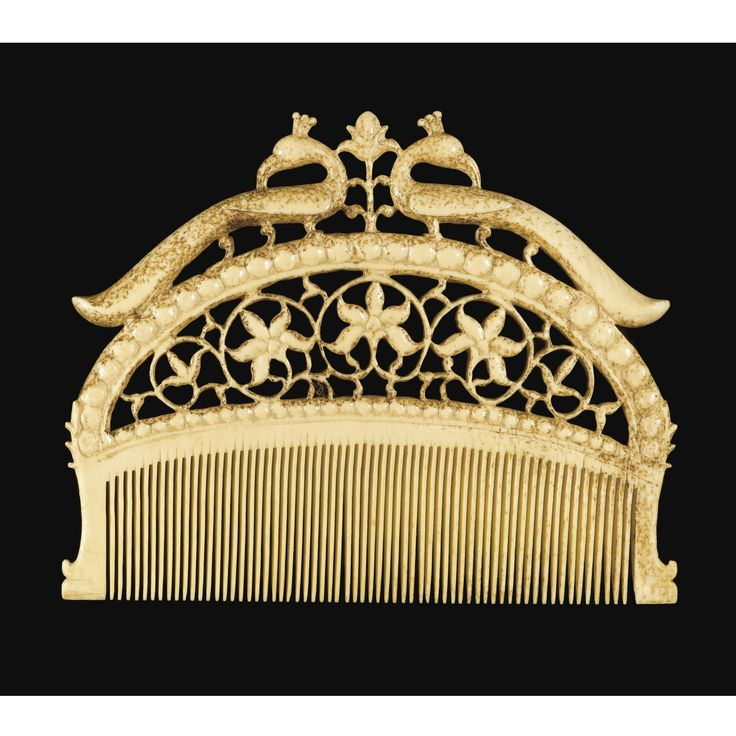 .:. Ivory Comb  --  Mughal, Northern India  --  17th-18th Centuries  --  Via Sotheby's