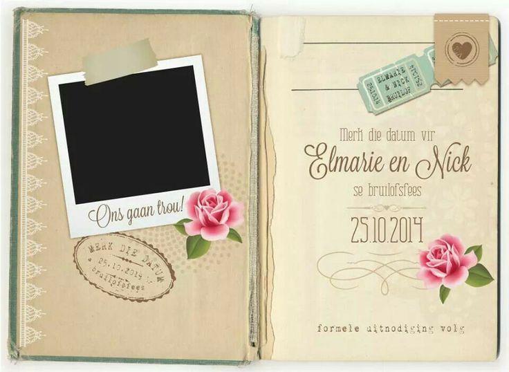 VintgeNo1 electronic save-the-date #vintage #wedding #weddingstationery