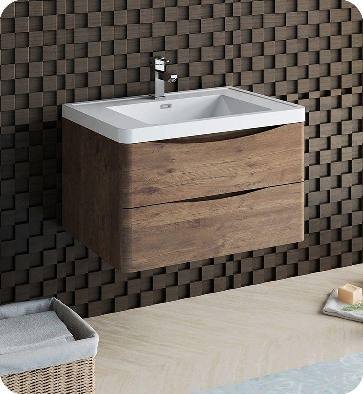 Fresca Fcb9032rw I Tuscany 32 Rosewood Wall Hung Modern Bathroom