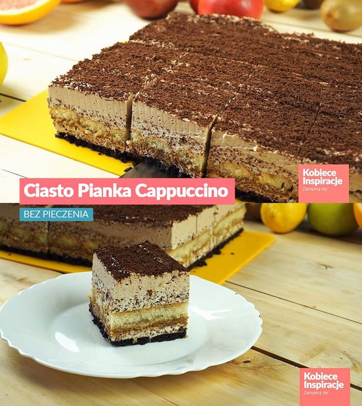 Ciasto Pianka Cappuccino - BEZ PIECZENIA