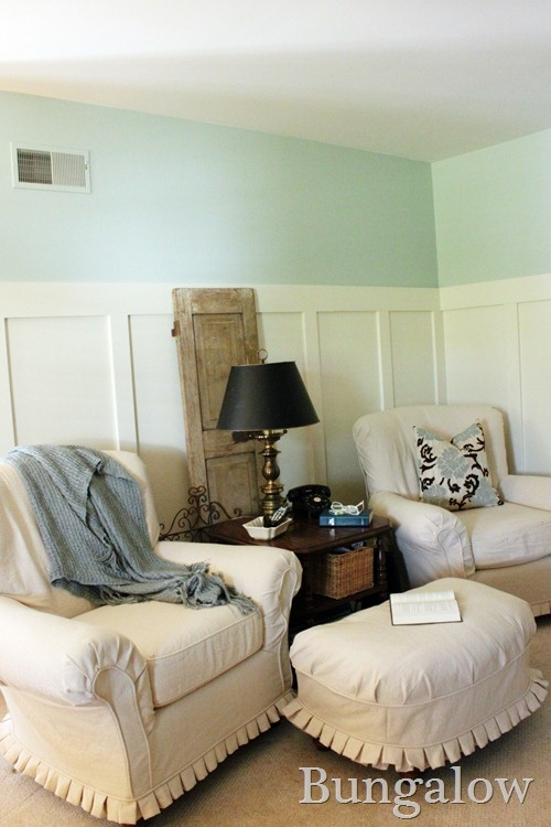 Nice Ruffled Edge On Slipcover Walls Palladian Blue A Historic Color From