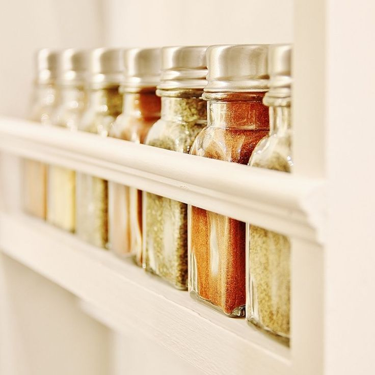 Built-in Spice Rack using space between studs