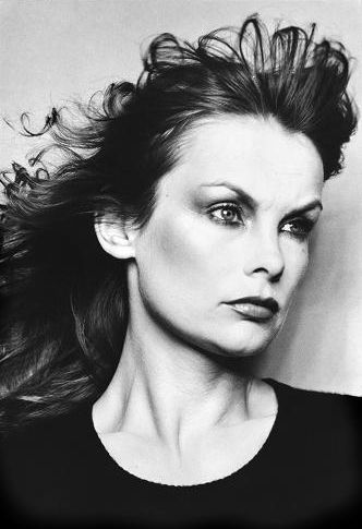 Portrait of English fashion model Jean Shrimpton, United Kingdom, 1974, photograph by David Bailey.