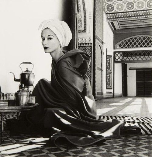 Woman in Palace, Marrakech, Morocco, 1951 Photographer: Irving Penn Model: Lisa Fonssagrives-Penn