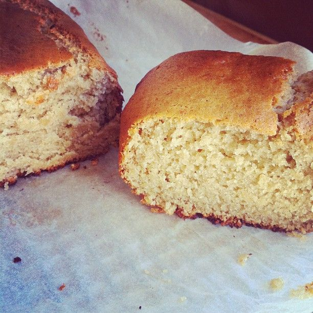 Melt + mix banana bread in the thermomix