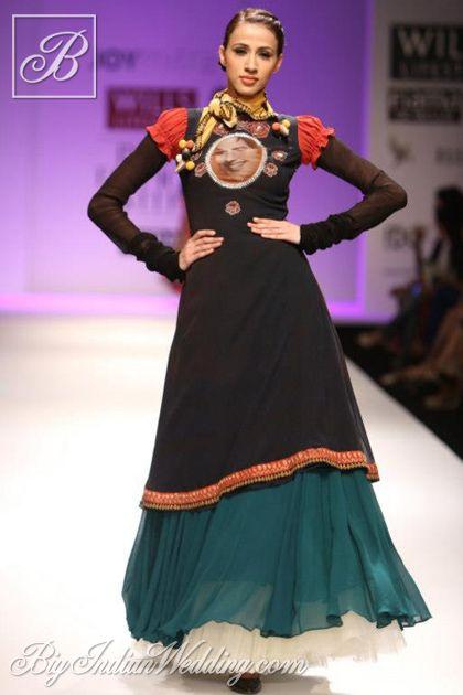 #Alesia #Raut in Joy Mitra traditional Indian wear  #WLIFW AW '13