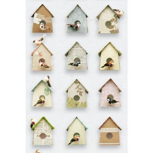 studio ditte behang vogelhuisjes hip! kinderkamer