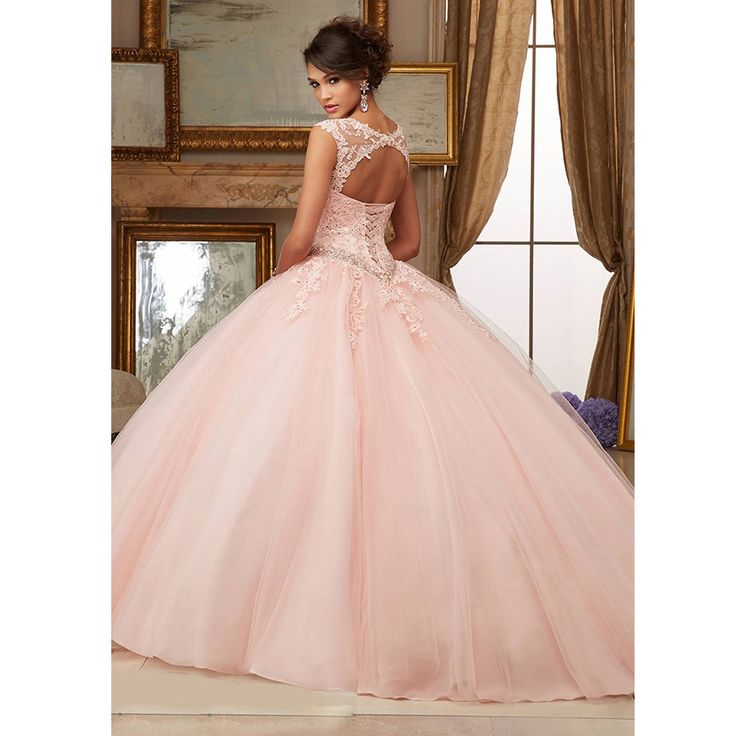 Light Mint Green Sweet 16 Dresses Cheap Masquerade Prom Ball Gowns Cap Sleeves Lace Tulle Sparkly Aqua Quinceanera Dresses 2016