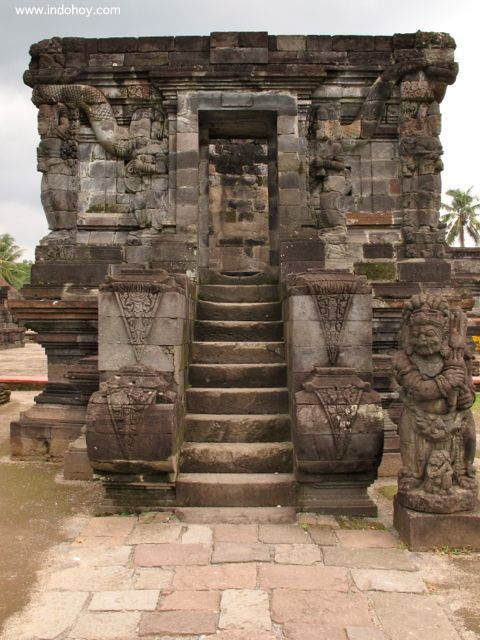 Candi Naga, part of the Candi Panataran in Blitar. A snake-like dragon circles the top of the candi. It is said that this dragon helped the gods by spinning Semeru Mountain and creating holy water.
