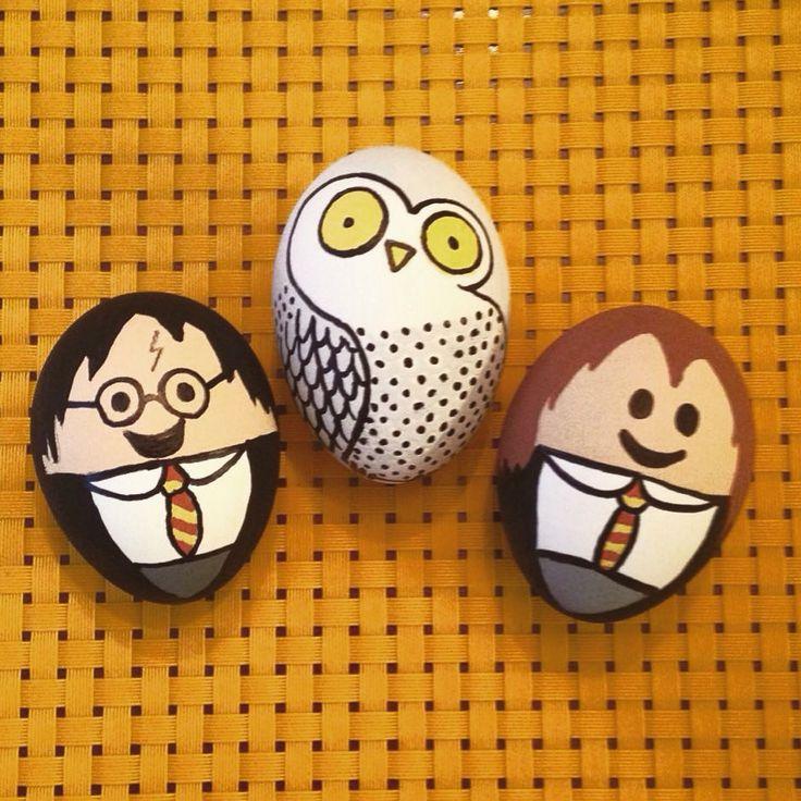 Huevitos decorados. Harry Potter