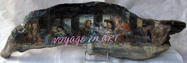 Vizantine icon decoupage on wood www.artvoyage.gr
