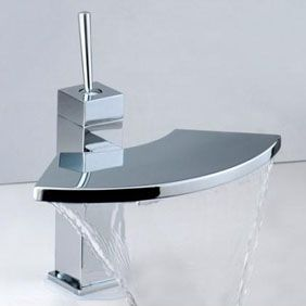 Contemporary Brass Bathroom Sink Faucet Chrome Finish T6008