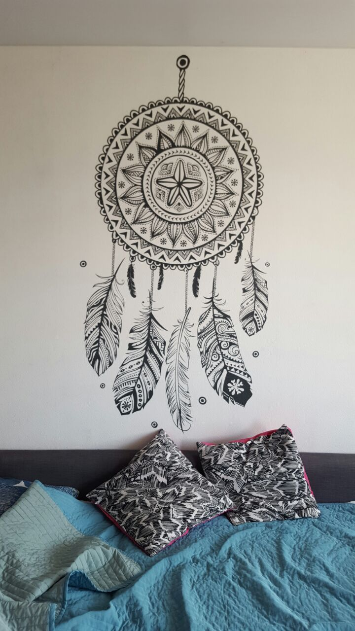 Decorative wall painting - dreamcatcher by Alexey Proshin. http://rospissten.moscow/
