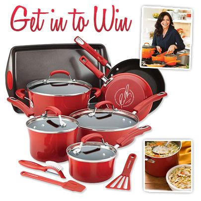Enter to win a Rachael Ray 14-Piece Cookware Set!!  Giveaway ends June 10, 2015.