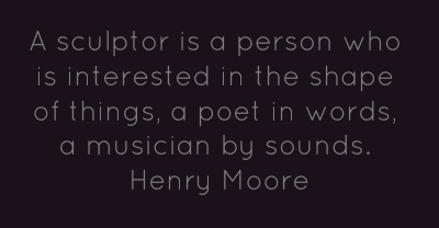 A sculptor is a person who is interested in the...