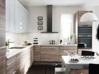 SOFIELUND walnut effect light gray - link is to some international Ikea site, but the oven, stove and window location closely mimic what I want to do in our kitchen