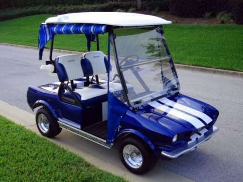 Mustang golf cart. Yes please.