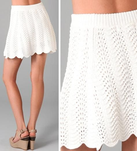 So normally I don't like crochet clothing items but I actually like this skirt