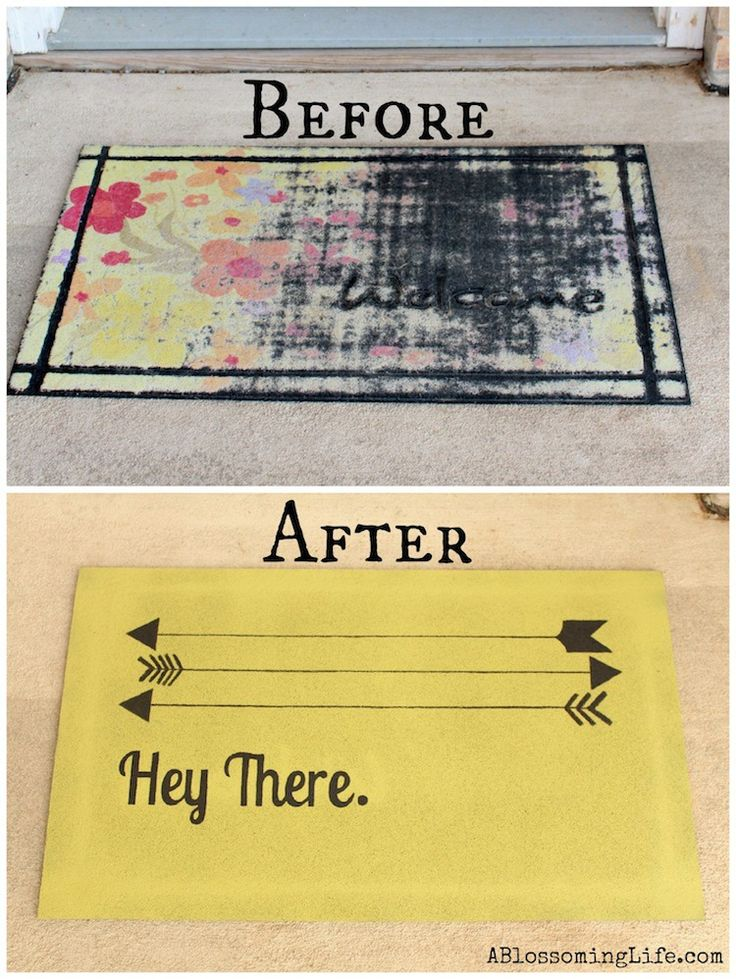 Transform Your Porch With A Fun Welcome Mat Diy Home