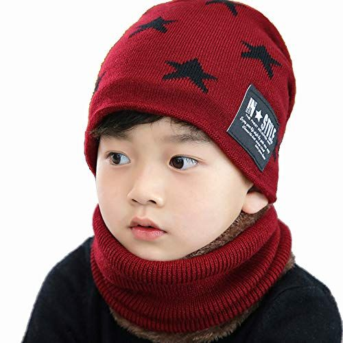 ec22e8f4d Baby Beanie Hat Scarf Set Winter Warm Thick Infant Toddler Knitted ...