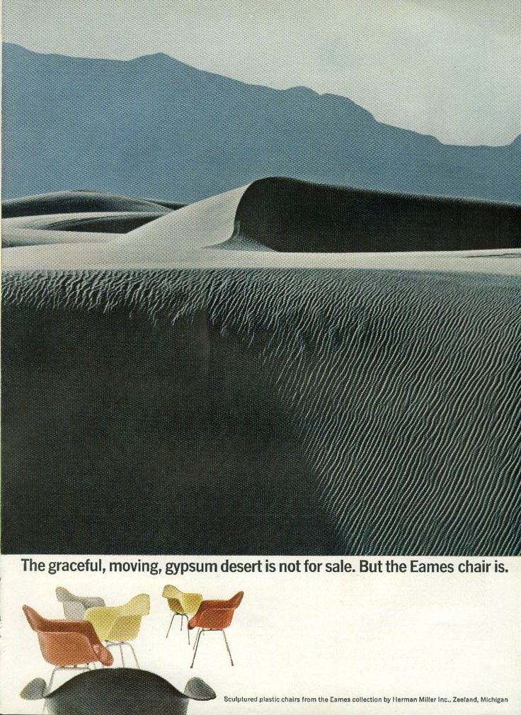Graceful Moving Gypsum Desert Not For Sale Herman Miller Eames Chair Ad 1960