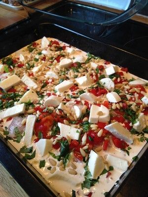Kyckling med mozzarella och grillad paprika | kanduvisslajohanna