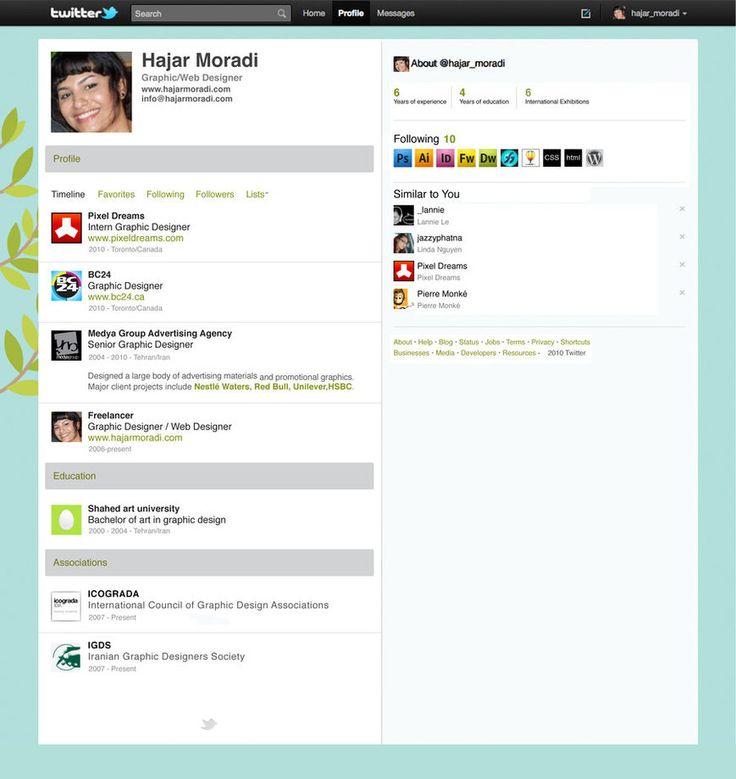 TwitterInspired Resume (by stormystranger) Clever