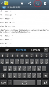 Samsung Android Telefon Resim Galerisine Ekran Çevirme Tuşu Eklemek | Mehmet Emin Ertemür