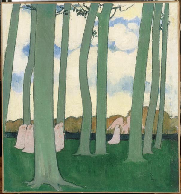 """""""Les arbres verts ou les Hêtres de Kerduel"""" de Maurice Denis (1870-1943). Paris, musée d'Orsay - Photo (C) RMN-Grand Palais (musée d'Orsay) / Hervé Lewandowski"""
