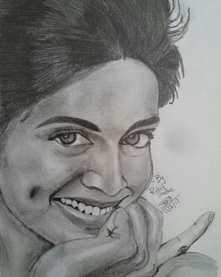 Hyper realistic pencil sketch of deepika padukone by me