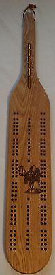 Card Games-Vintage 146004: Moose Oak Cribbage Board -> BUY IT NOW ONLY: $68.99 on eBay!
