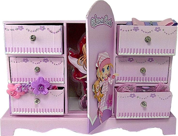 pretty Glitter Friends jewellery box