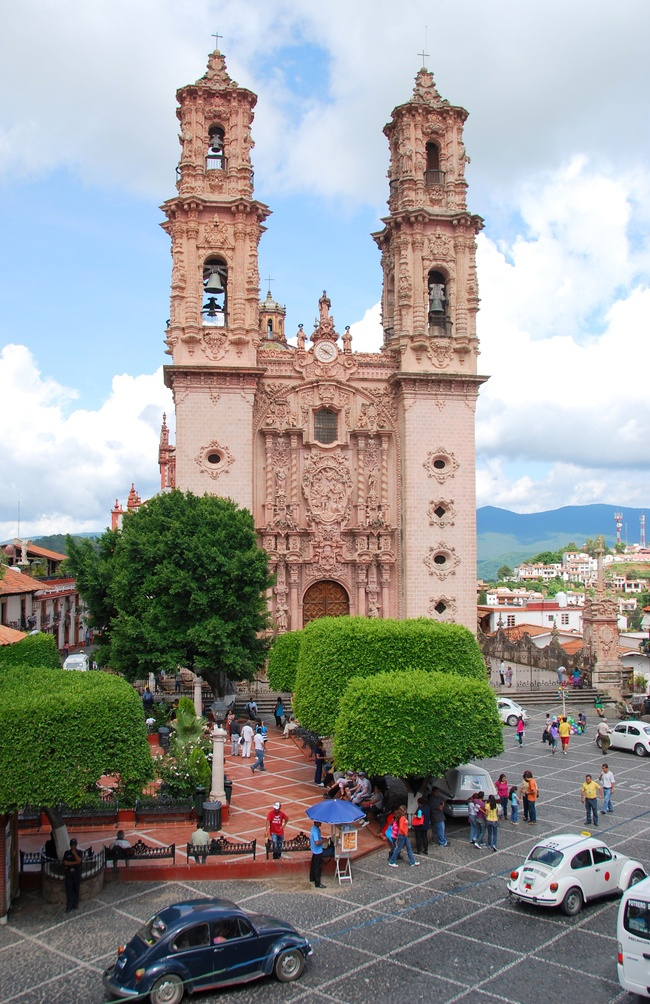 Taxco, Guerrero, Mexico #Mexico #Mexican #church - to purchase folk art churches of clay, visit www.mainlymexican...