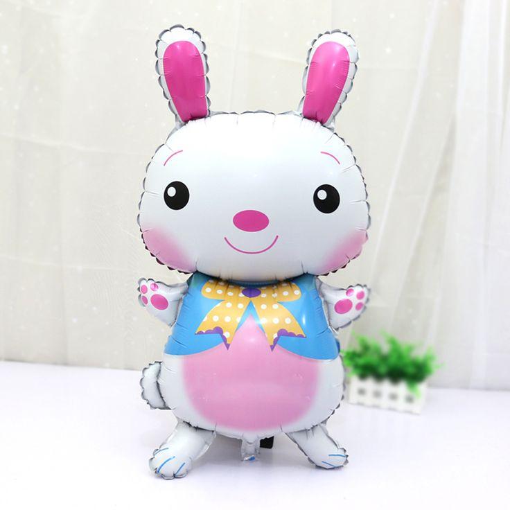 1 ШТ. 96*48 см Мультфильм Животных Шар Большой Прекрасный Розовый Кролик Кролики День Рождения Воздушные Шары Оптовая Алюминиевые Воздушные Шары B223 купить на AliExpress
