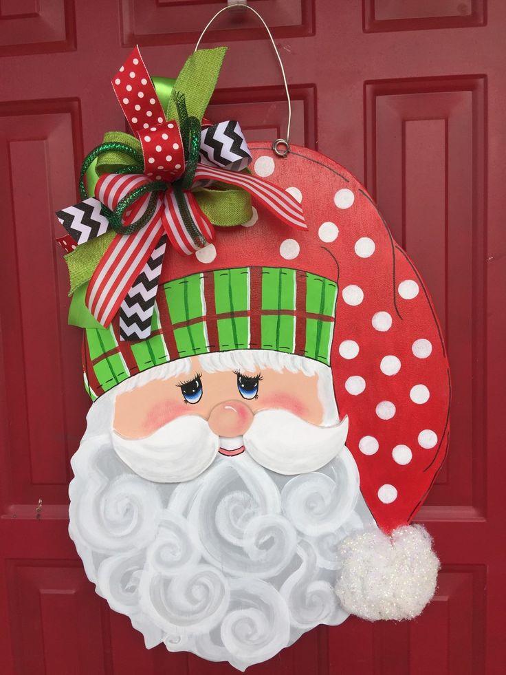 42 best santa door hangers images on crafts door hangers and