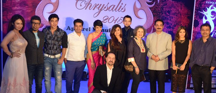 Kavitta Verma, Arzan Khambatta, Dillzan Wadia, Mandira Bedi, Babita Malkani, Meher Castelino, Wendell Rodricks, Elric Dsouza, Shahab Durazi at SNDT-AMD Chrysalis fashion show